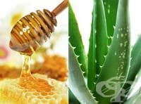 Смесете сока от алое с мед като противовъзпалително или слабително средство