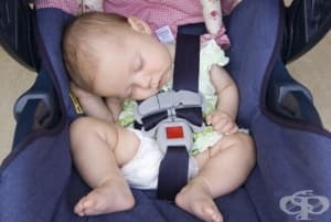 Спането на бебето в приспособления за сядане може да доведе до инцидент
