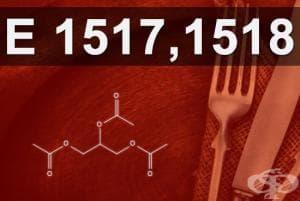 E1517, E1518 - Ацетати на глицерола (Glycerol acetates)