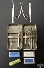 Джобен комплект с хирургически инструменти от началото на 20 век