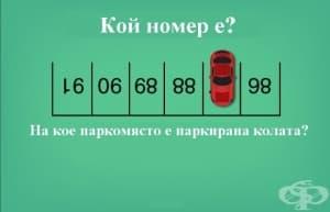 На кое паркомясто е колата? - отговор