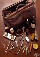 Старинна акушерска чанта от 1919 година