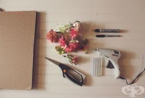 Бърза идея за декор от хартиени цветя в снимки