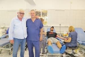 Футболисти и военни лекари от ВМА дариха кръв