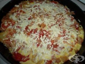 Картофи с кайма и домати на фурна