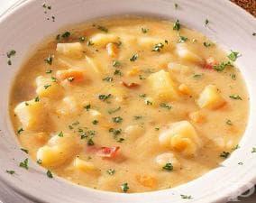 Картофена супа със сирене и масло
