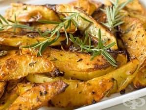Картофи на фурна с розмарин и чесън