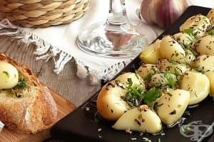 Маринован чесън в бяло вино и подправки