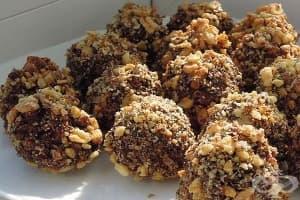 Овесени шоколадови бонбони с орехи