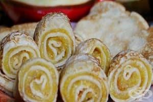 Палачинки с печен тиквен крем