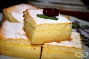 Нежен ванилов сладкиш с прясно мляко