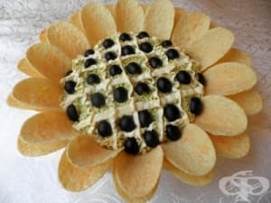 Салата Слънчоглед с картофен чипс