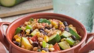Спелта със зеленчуци