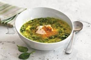 Супа от броколи със спанак, картофи и чесън