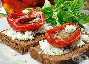 Сушени домати в зехтин и ароматни подправки