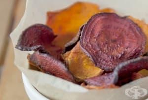 Здравословен зеленчуков чипс на фурна