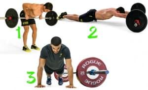 10-минутна AMRAP кръгова тренировка с щанга за гръб, корем и кондиция