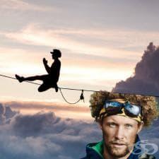 Анди Люис – слаклайн и скокове от основа