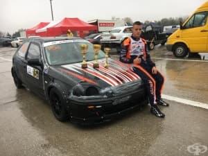 Най-младият пилот в пистовия шампионат на България Кристиян Христов отново изумява