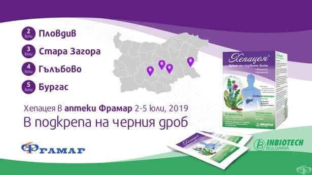 Представяне на Хепацея в аптеки Фрамар - 2-5 юли, 2019 - изображение