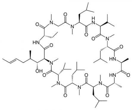 циклоспорин (ciclosporin)   ATC L04AD01 - изображение