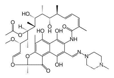 рифампицин (rifampicin) | ATC J04AB02 - изображение