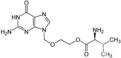 валацикловир (valaciclovir) | ATC J05AB11 - изображение