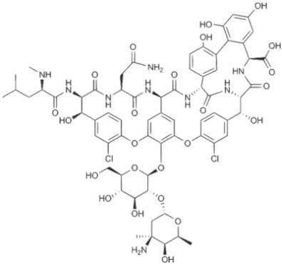 ванкомицин (vancomycin)   ATC J01XA01 - изображение