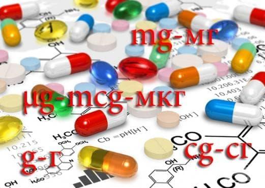 Преобразуване на грамове, милиграми и микрограми при твърдите лекарствени форми - изображение