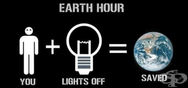 Отбелязваме Часът на Земята на 25 март - изображение