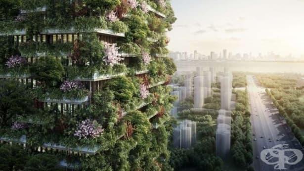 В Китай решиха да противодействат на смога с вертикални градини (Снимки) - изображение