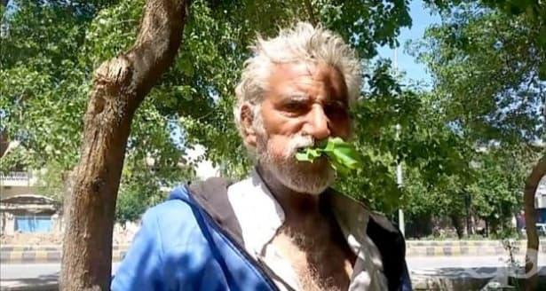 Пакистанец, хранещ се с листа и кора от дървета, никога не е боледувал - изображение