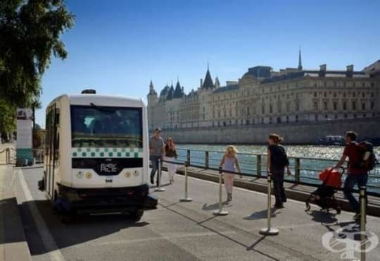 Първата 100% електрическа безпилотна совалка вече прави пробни обиколки в Париж - изображение