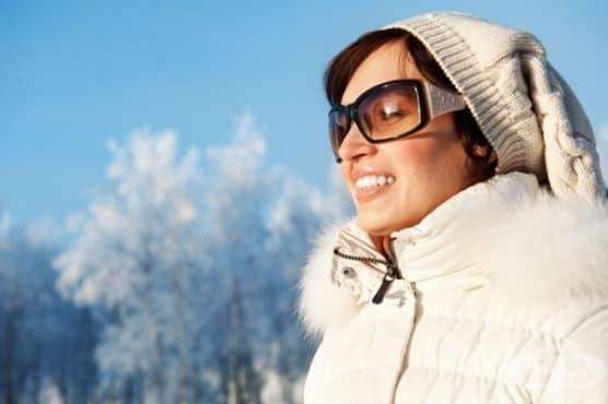 Зимното слънце може да навреди на очите - изображение