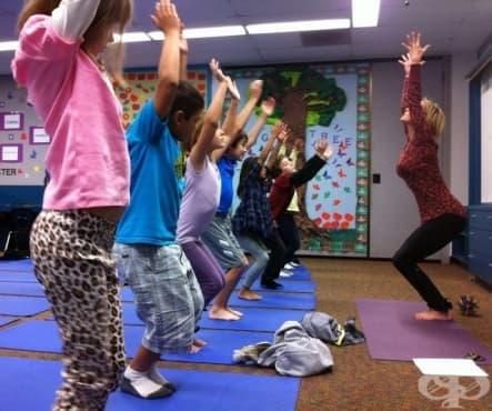 Йогата бори стреса и при децата - изображение