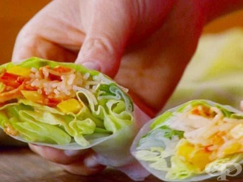Здрави и красиви с Деси: Зеленчукови рулца с гуакамоле - изображение
