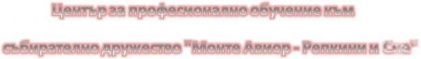 """ЦПО към СД """"Монте Авиор - Репкини и Сие"""", гр. Монтана - изображение"""