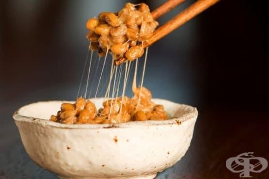 Натто - ферментирали соеви зърна - изображение