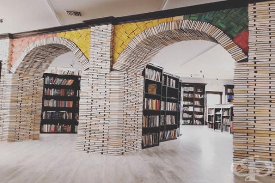 Арка от книги или как мъж вдъхва нов живот на старите книги - изображение