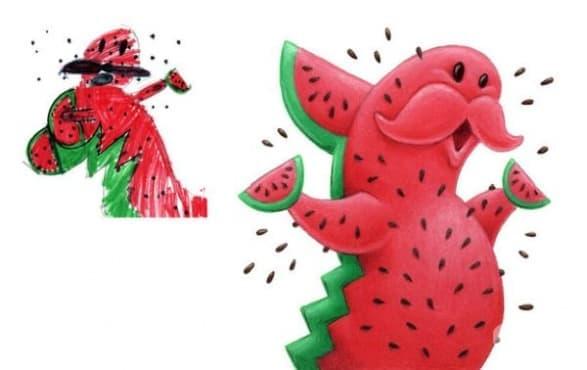 25 чудовища, базирани на детски рисунки - изображение