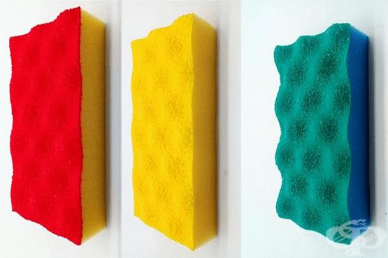 Защо гъбите за почистване са в различни цветове? - изображение
