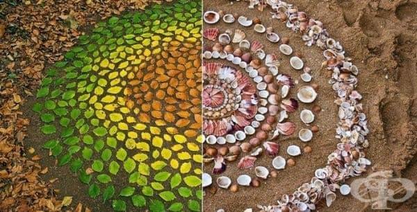 22 хипнотизиращи мандали от естествени природни елементи - изображение