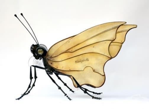 12 насекоми, изработени от рециклирано желязо - изображение
