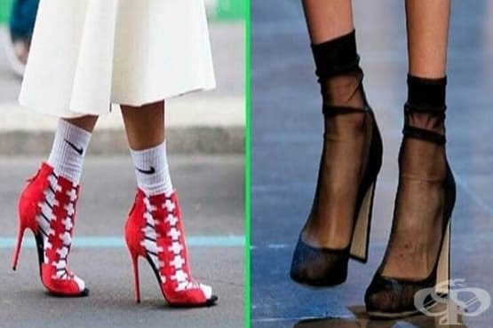 Новата тенденция този сезон: елегантни обувки и чорапи  - изображение