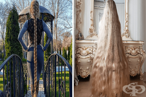 Рапунцел в реалния живот може да се похвали с 1,8 метра дължина на косата - изображение