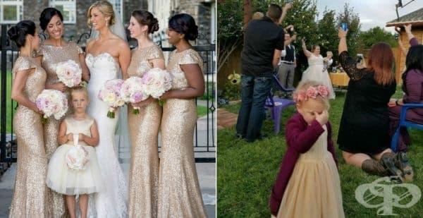 30 смешки снимки на деца по време на сватба - изображение