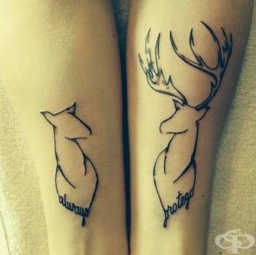 30 татуировки, изразяващи специални отношения много по-добре от всички думи - изображение