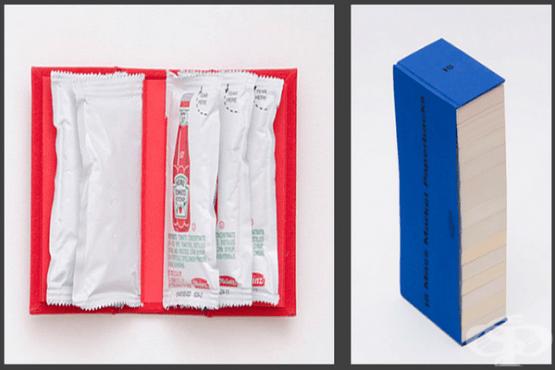 10 снимки на продукти и предмети, оформени като книги - изображение