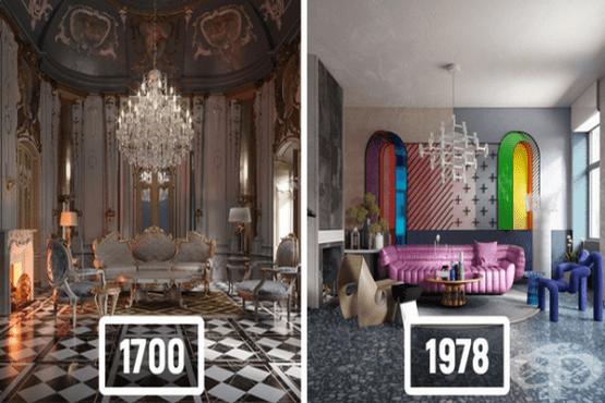Дизайнери показват как са се променили интериорните стилове през последните 500 години - изображение