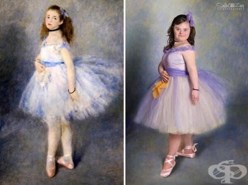 Деца със синдром на Даун пресъздават известни класически картини - изображение